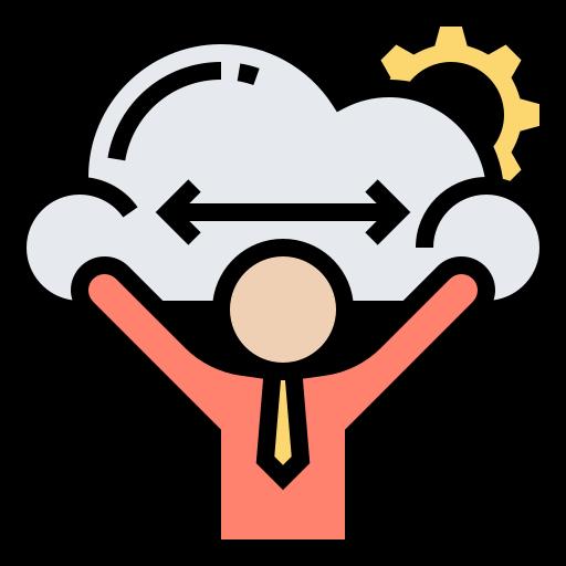 一個人雙手舉起伸展一塊雲